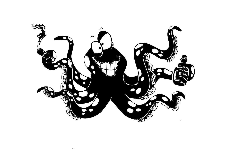 Черный осминог