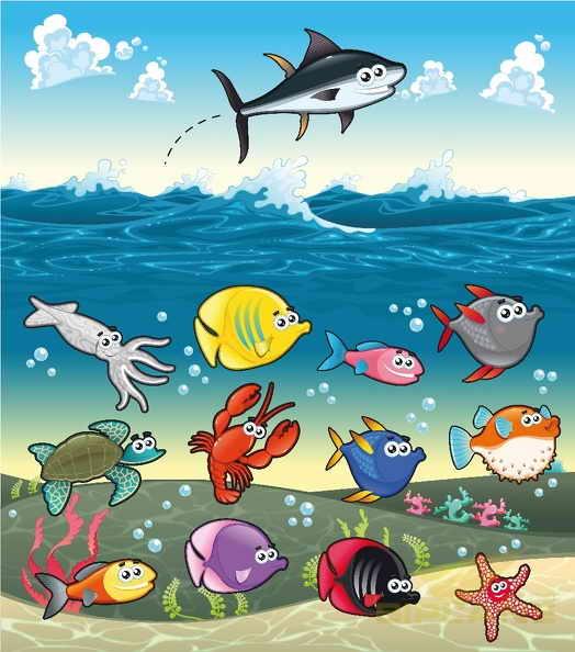 Пролетая над рыбами